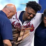 Braves lose Ronald Acuna Jr. for season after outfielder tears ACL trying to make catch 💥💥