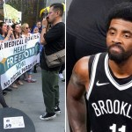 NYC protesters who held 'freedom rally' at Times Square to march in support of Kyrie Irving 💥💥