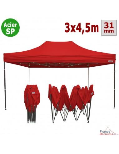 barnum pliant tonnelle acier semi pro 3mx4 5m rouge