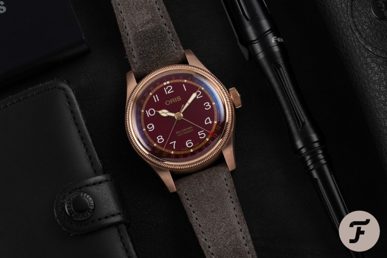 Fratello × Oris Big Crown Bronze Pointer Date With Oxblood Dial 2020 Watch Release