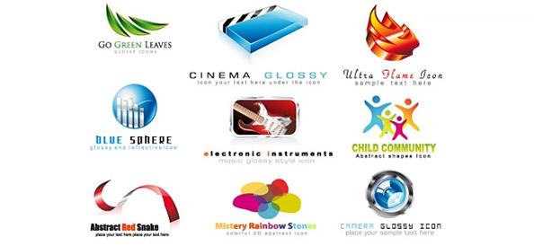 2D and 3D Logo Designs