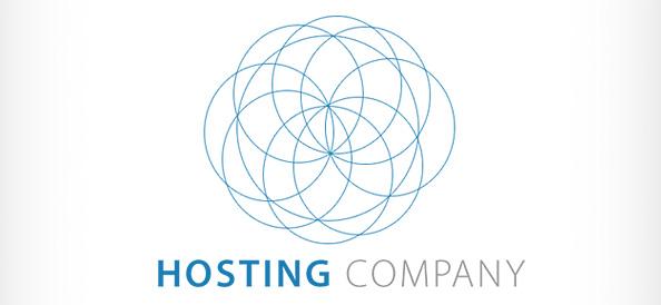 Server Hosting PSD Logo Design