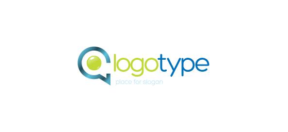 Communication Company Vector Logo Template