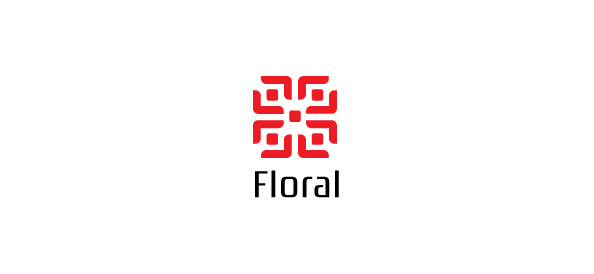 Simple Flower Logo Template for Florists