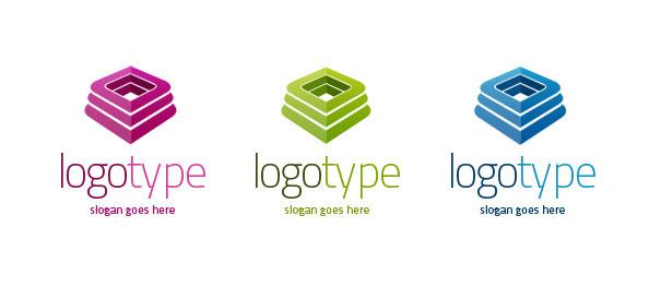 3D Logo Vector Template Set