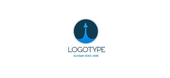 Spaceship Logo Design Template