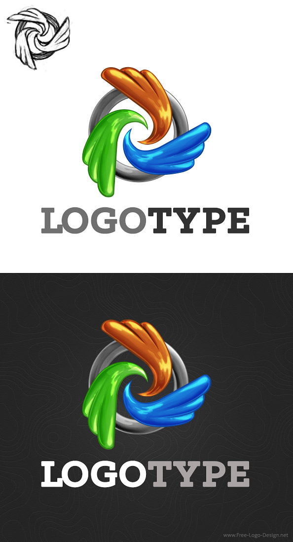 Abstract Logo Design Template Preview