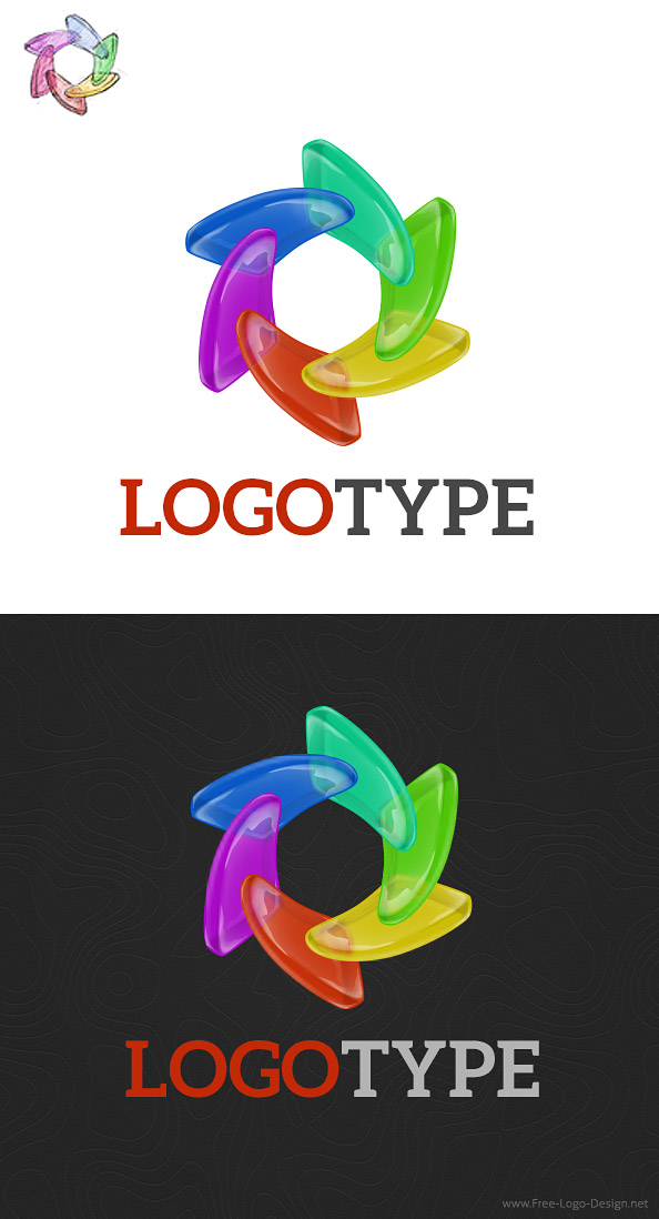 Colorful Logo Design Template Preview
