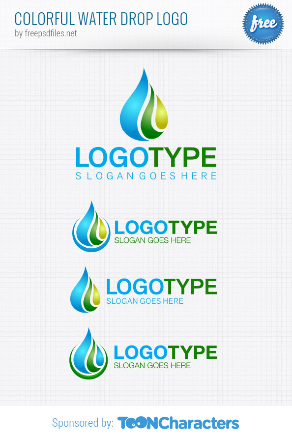 Colorful Water Drop Logo Template