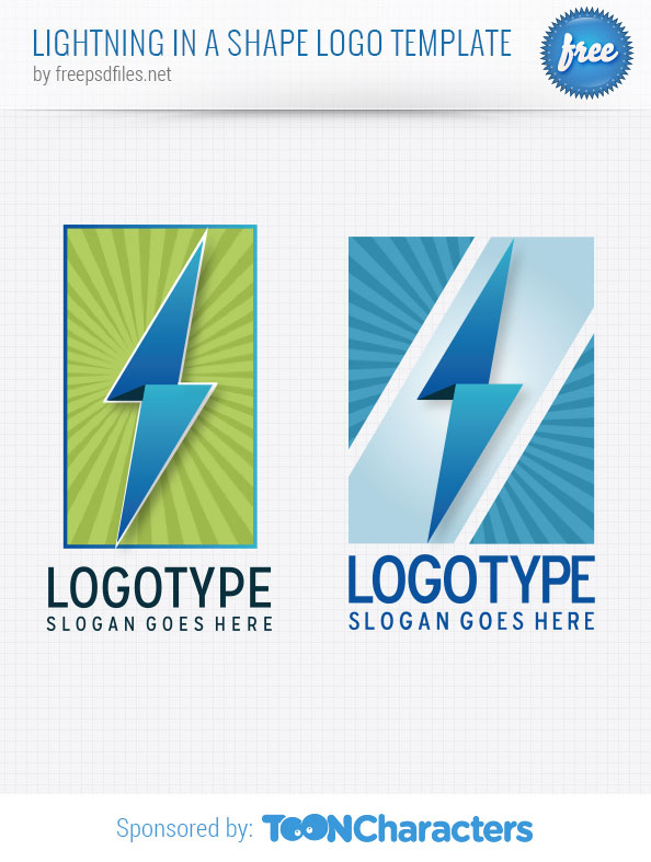 Lightning in a Shape Logo Template