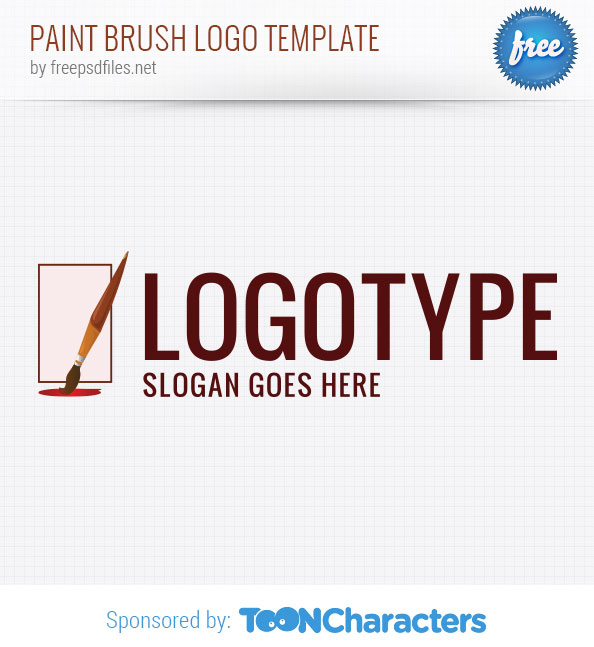 Paint Brush Logo Template