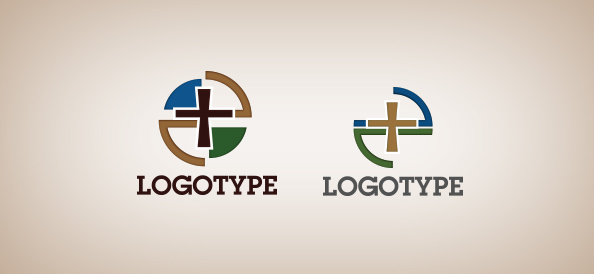 church cross logo template