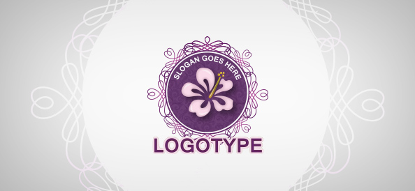 Floral Beauty Logo Template