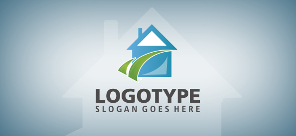 Real Estate House Logo Template