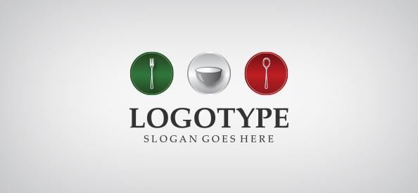 Restaurant Cutlery Logo Template