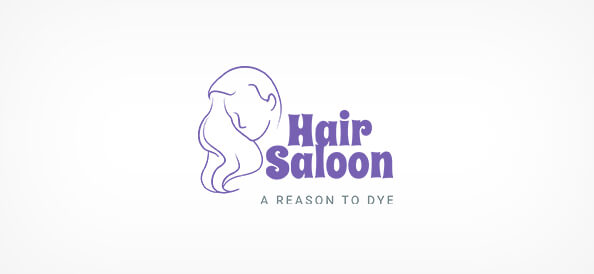 Free Hair Saloon Logo Design Template