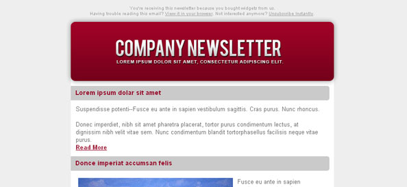 Colorful HTML Email Newsletter