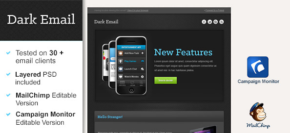 Dark Newsletter Template