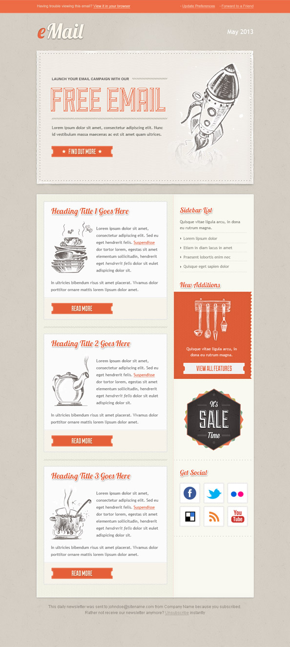 Vintage Email Template Preview