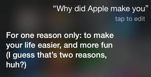 why apple made you