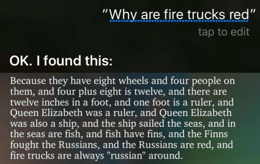 siri firetrucks