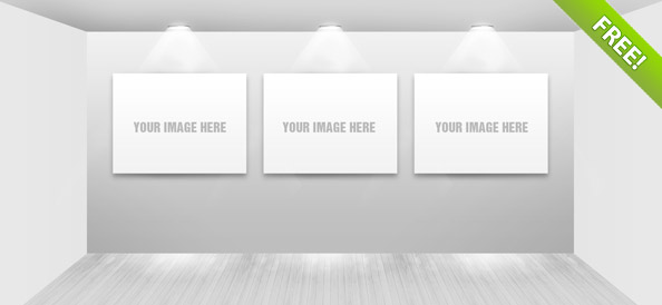 Free PSD Gallery Showroom