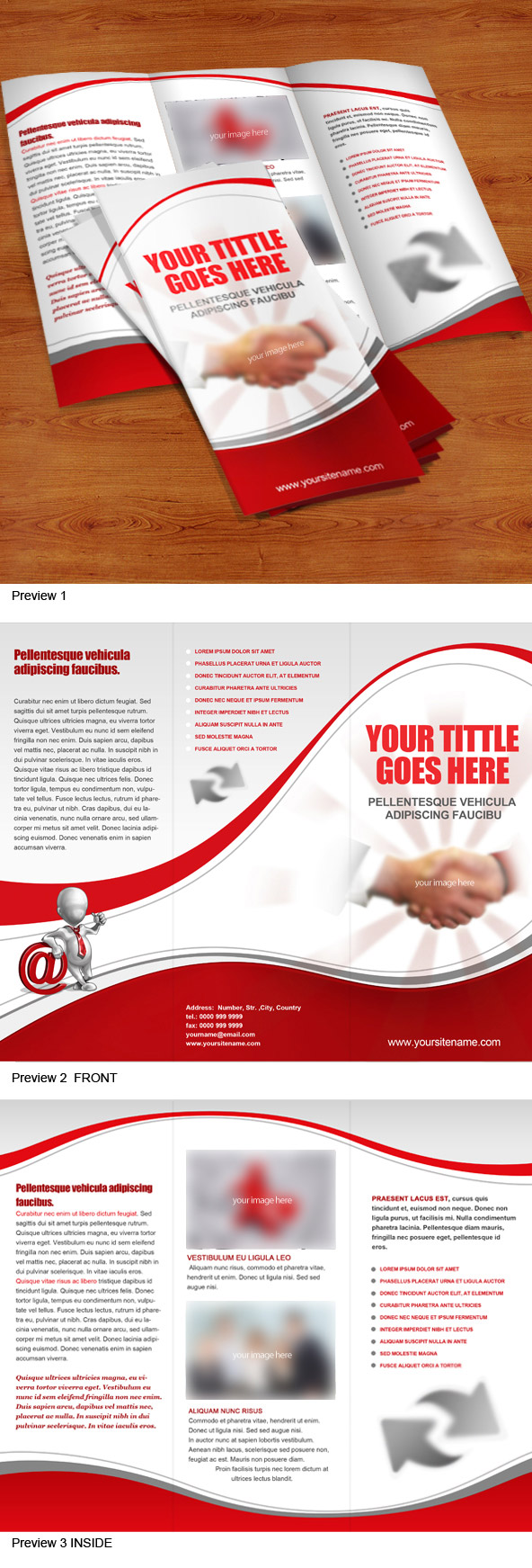 Free PSD 3 Fold Brochure Preview Big