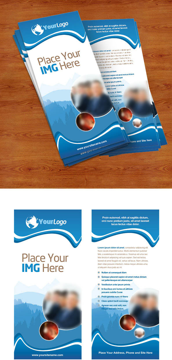 Rack Card PSD Template Preview