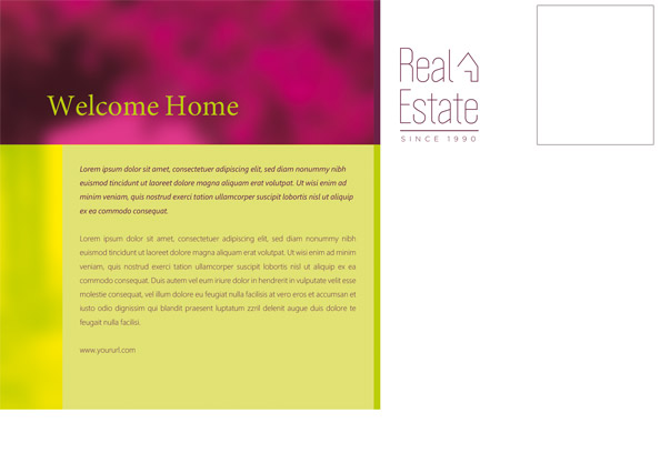 Real Estate Postcard Preview Back
