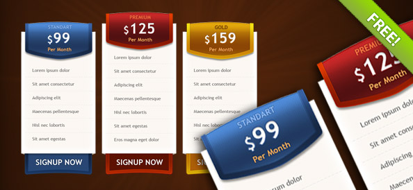 3 PSD Pricing Boxes