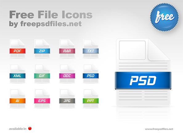 12 Free File Icons Preview Big
