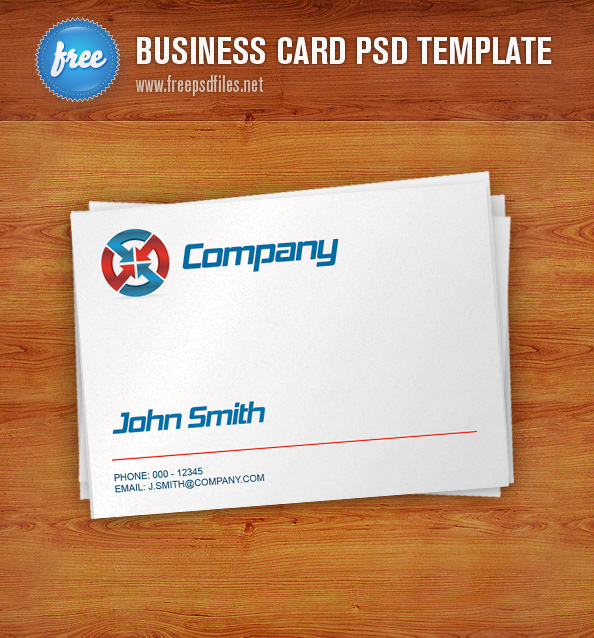 Free Business Card PSD Template Preview Big