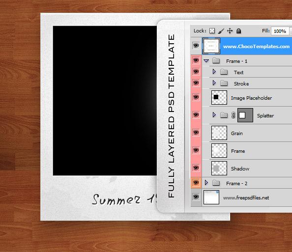 Fully Layered Polaroid Photo Frames