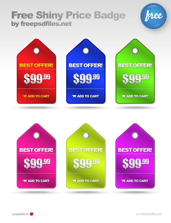 Shiny Price Badge PSD Template Preview Big