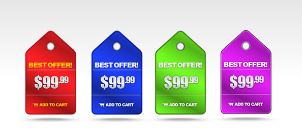 Shiny Price Badge PSD Templates