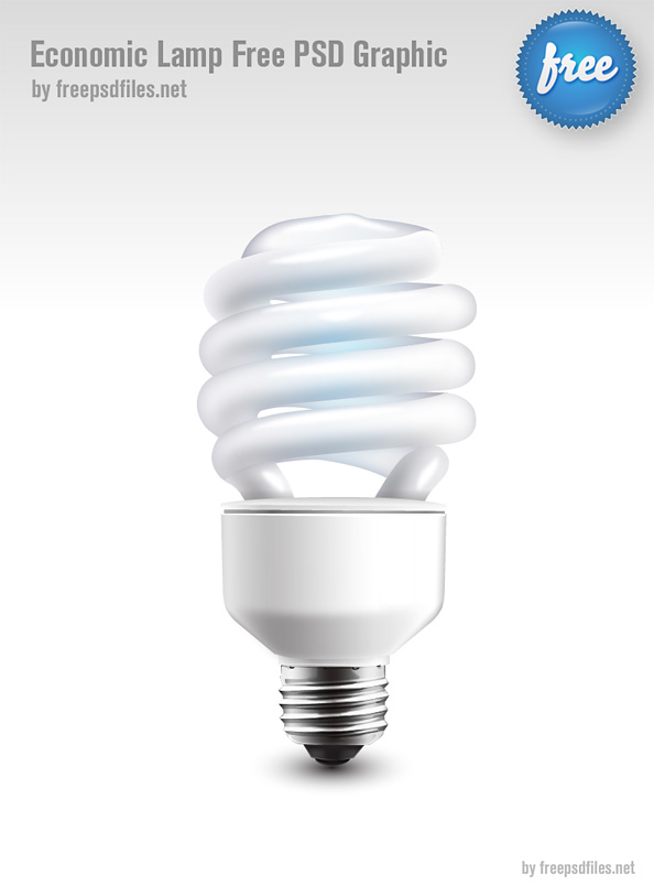 Economic Lamp Free PSD Graphic Preview Big