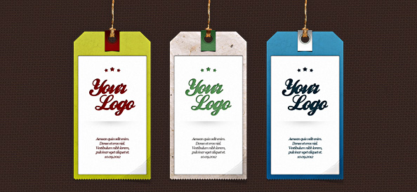 Label PSD Set – 3 Tag Templates