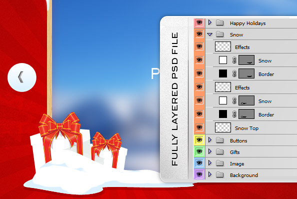 Fully Layered Christmas Slider PSD Template
