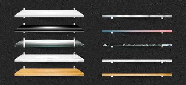 Shelf PSD Mockups