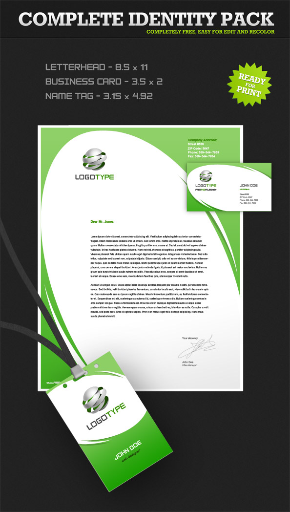 Corporate Identity PSD Pack Preview