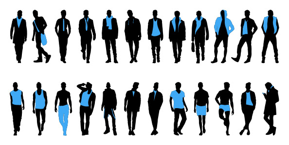 Fashion Men Silhouettes Set 1 Preview