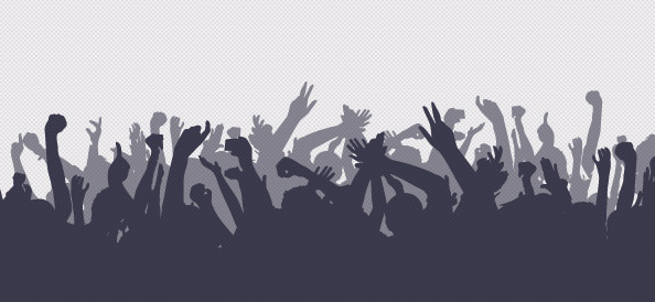 Crowd Silhouettes Set