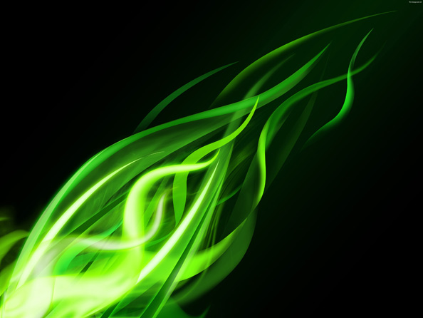 Free Wavy Backgrounds - Green Variation