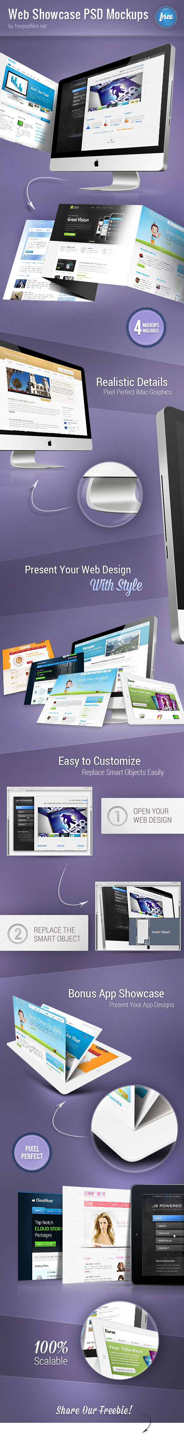 Web Showcase PSD Mockups Preview