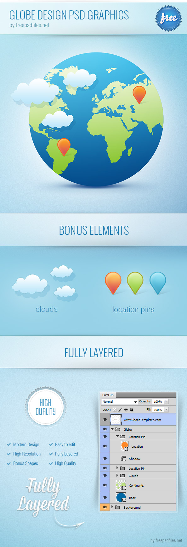 Globe Design PSD Graphics Preview