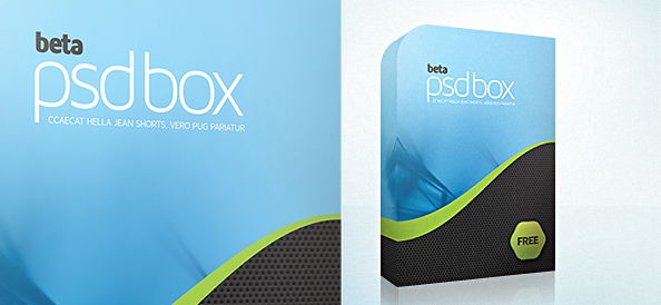 Software 3D Box PSD Template