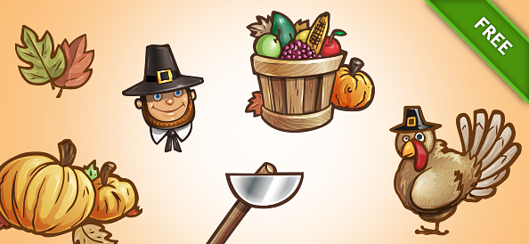 Free PSD Thanksgiving Set 2