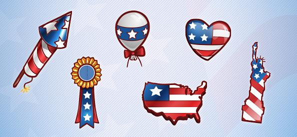 Free PSD American Patriotic Set 1