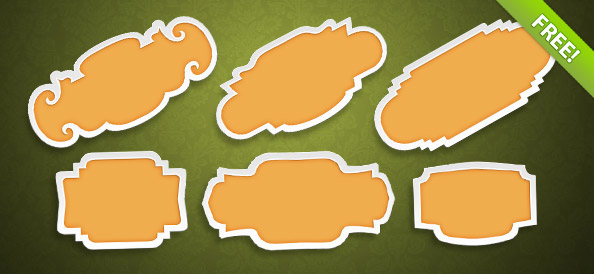 6 Free PSD Badge Templates