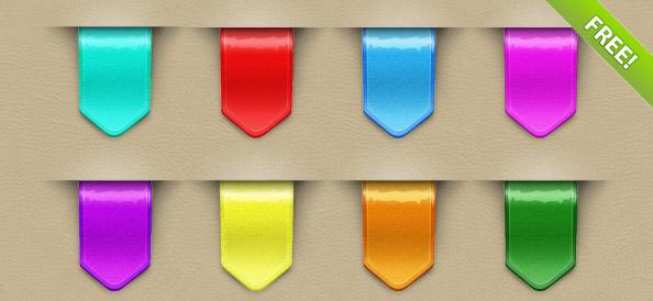 9 Colorful Web Ribbons